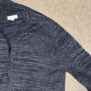 CALVIN KLEIN Full-Zip Sweater Size S